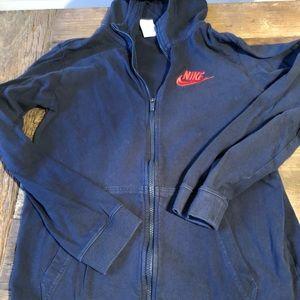 Navy Nike Boys XL zip up hoodie
